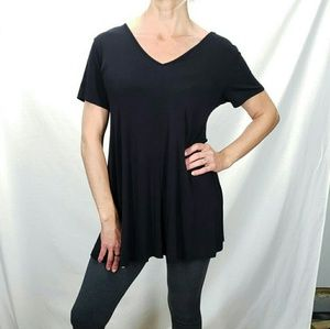Grace Elements Womens Black Top/ Tunic Size Lg.